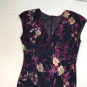 Jones New York SZ 10 Cut Velvet Dress